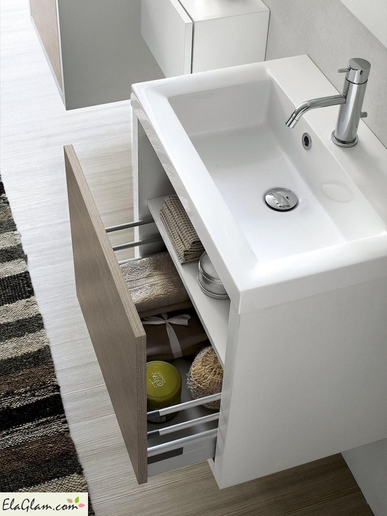 Mobile bagno in laminato legno Inda h25917