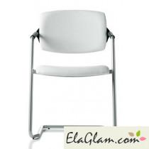 sedia ufficio h8003 bianco