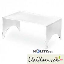 tavolino basso in plexiglass