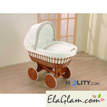 Culla neonati in vimini con capote h16616