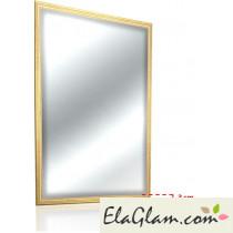 Specchio con cornice dorata in legno h11825