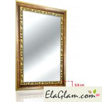 Specchio con cornice in legno h11821
