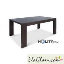 Tavolo in legno rettangolare allungabile h13003