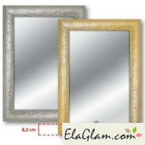 Specchiera con cornice in legno h11826