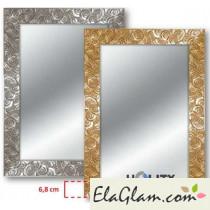 Specchiera con cornice in legno decorata h11833