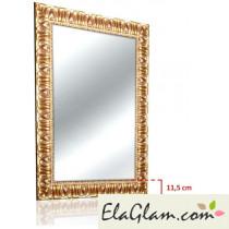 Specchiera con cornice dorata in legno h11818