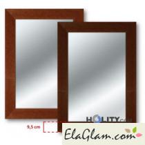Specchiera con cornice in legno h11820