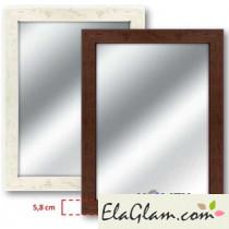 Specchio con cornice in legno h11823